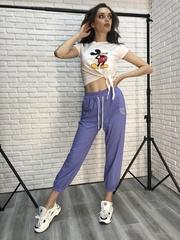 Спортивные штаны из трикотажа с резинкой Nadya