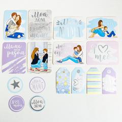 Карточки для скрапбукинга с высечками Моя прекрасная мама