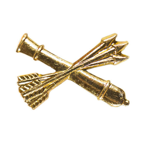 Эмблема петличная Войска ПВО, металл. золотой