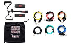 Набор эспандеров Original FitTools трубчатых (6 шт.) и аксессуаров в сумке