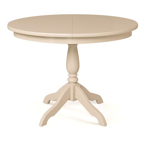 Стол обеденный Романс деревянный овальный раскладной слоновая кость