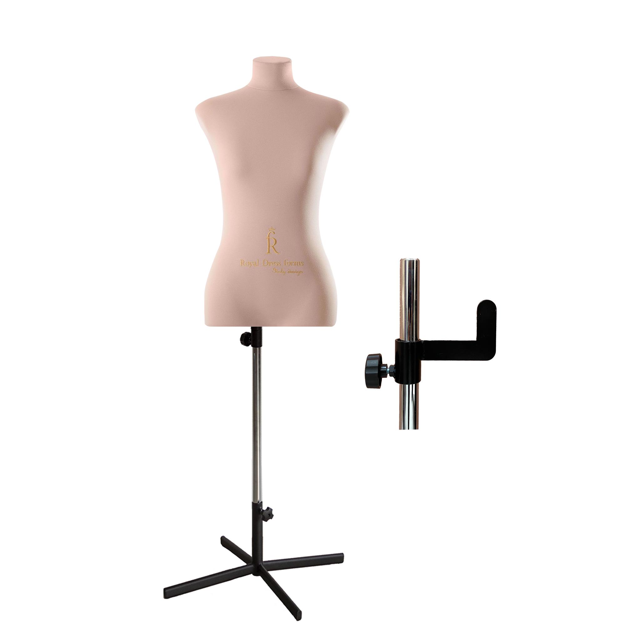 Манекен портновский Кристина, комплект Премиум, размер 48, цвет бежевый, в комплекте подставка