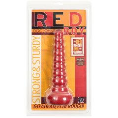 Ребристая анальная втулка Red Boy Anal Wand Butt Plug - 21,3 см.