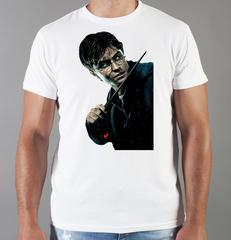 Футболка с принтом Гарри Поттер (Harry Potter/ Гриффиндор, Слизерин, Когтевран, Пуффендуй) белая 0041