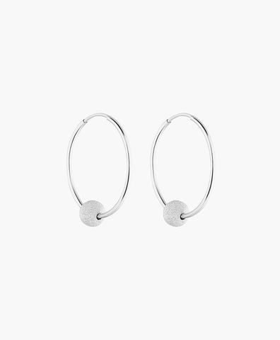 Cерьги-кольца DROP silver