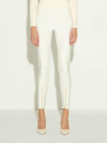 Женские брюки молочного цвета из 100% шелка - фото 5