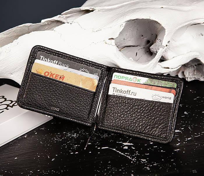 WL322-4 Зажим для купюр из натуральной кожи «Onyx» фото 07