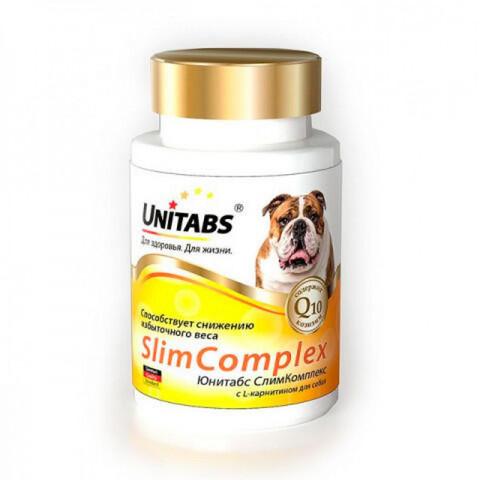 ЮНИТАБС СлимКомплекс с Q10 для собак 100 таб.