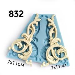 0832 Молд силиконовый. Уголки Мебельный декор.