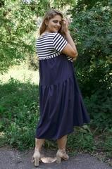 Одеса. Практична сукня для великих розмірів. Синій.