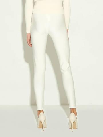 Женские брюки молочного цвета из 100% шелка - фото 6