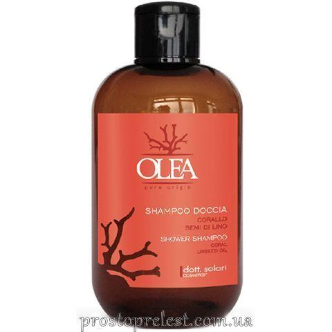 Dott. Solari Olea Shower Shampoo Extract Coral Linseed Oil -  Шампунь-гель для душу з екстрактом корала і олією льону