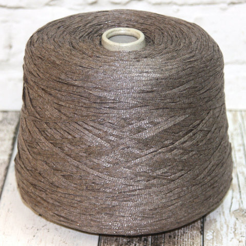 Вискоза ленточна FASHION MILL / GUSTO 120 серо-коричневый с блеском