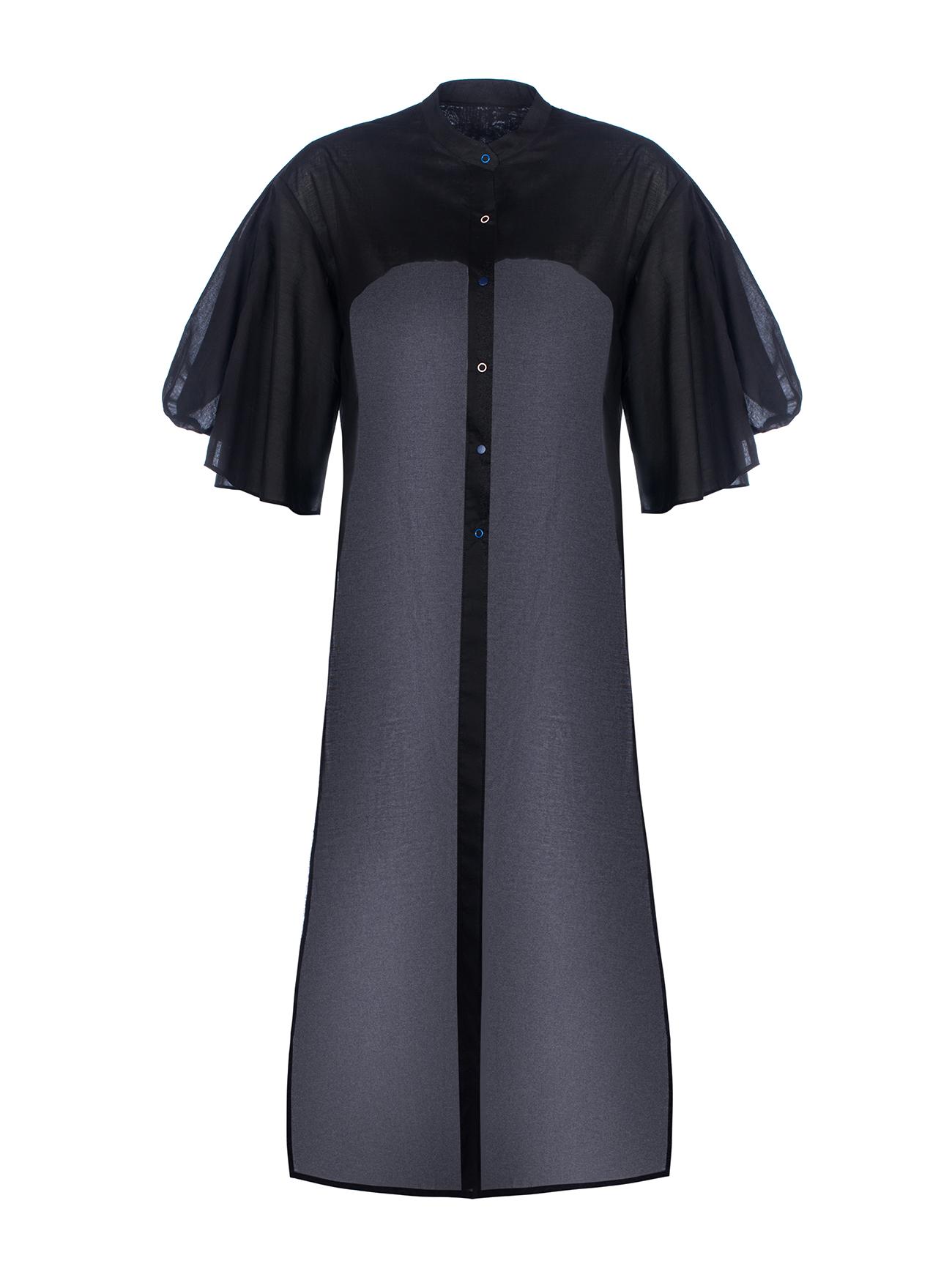 Платье-пыльник с кокеткой