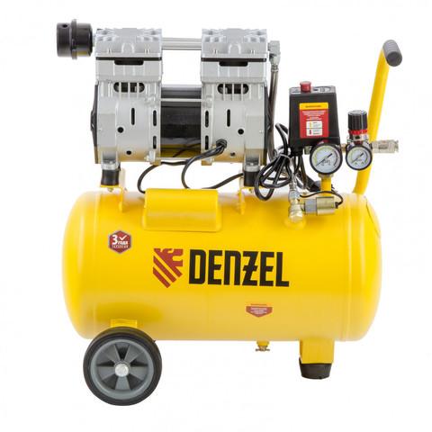 Компрессор DLS950/24 безмасляный малошумный 950 Вт, 165 л/мин, ресивер 24 л Denzel