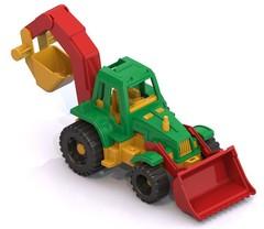 Трактор «Ижора» с грейдером и ковшом, 152