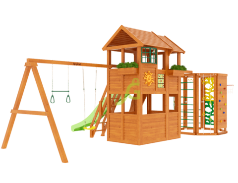 Детская площадка Клубный домик 2 с WorkOut