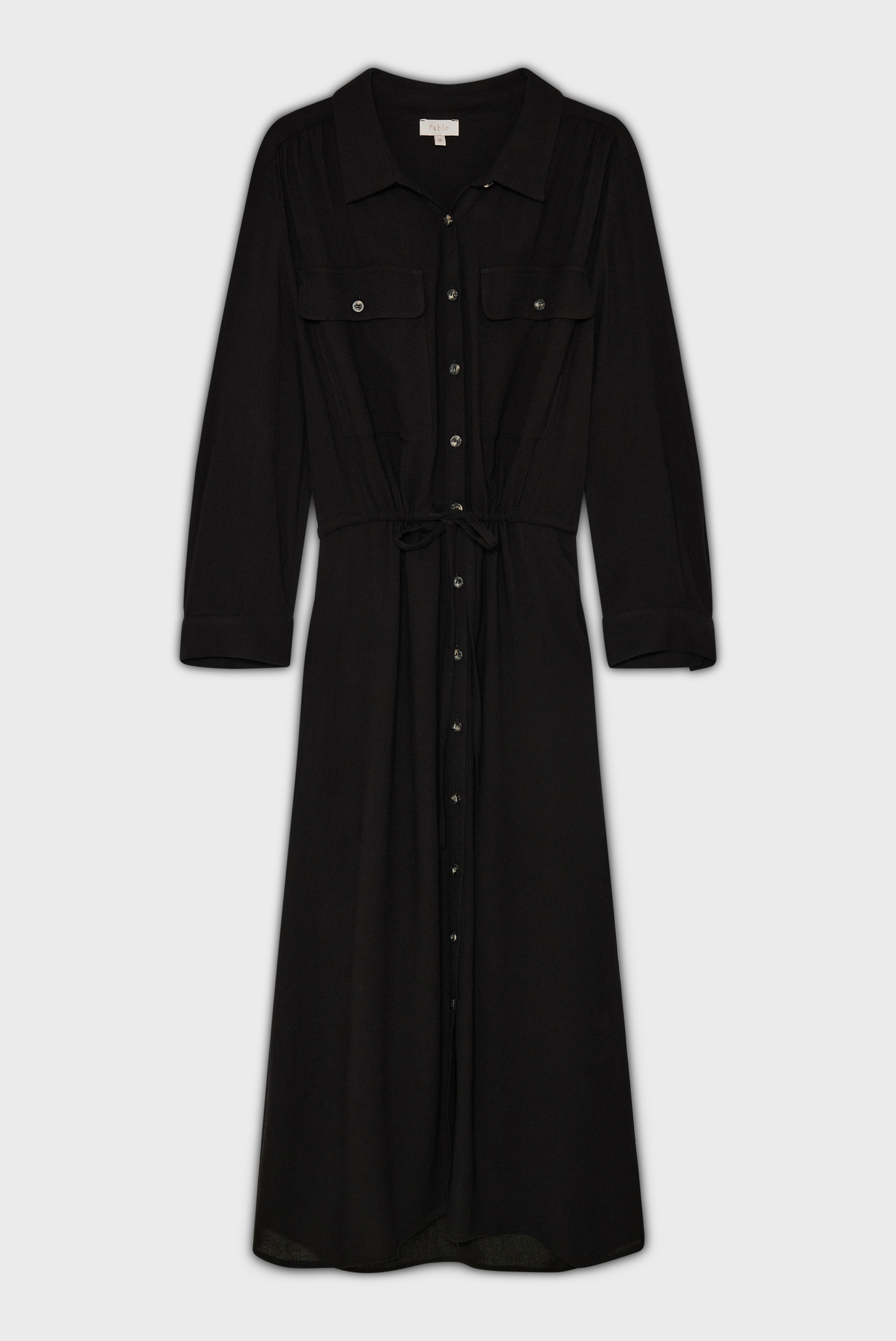ROMA - Платье-рубашка с завязками на талии