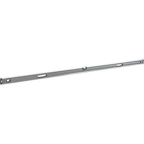 Уровень строительный КОБАЛЬТ Экстра, 2000 мм, профиль 30 x 65 мм, 3 глазка, 2 ручки, V-паз (243-325)