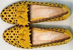 Женские босоножки с закрытым носком и пяткой Phany 103-28 Yellow.