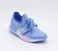Голубые текстильные кроссовки