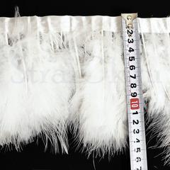 Купить оптом перья Марабу на ленте в интернет-магазине белые White