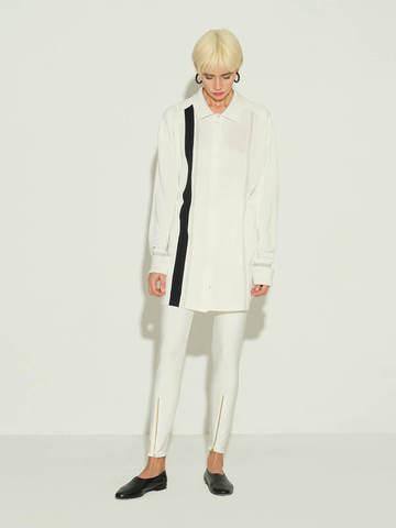Женские брюки молочного цвета из 100% шелка - фото 4