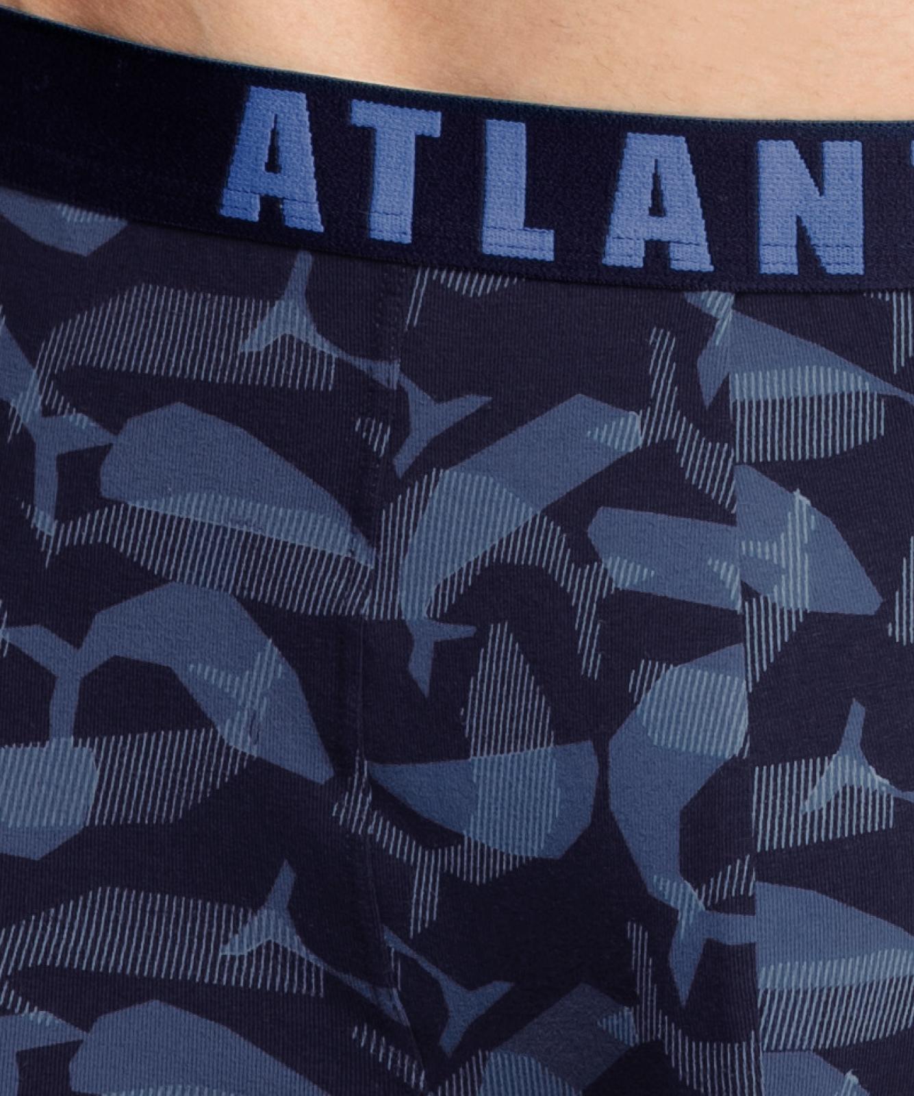 Мужские трусы шорты Atlantic, набор из 2 шт., хлопок, темно-синие, 2MH-1177