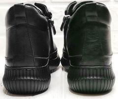 Кожаные кеды женские демисезонные ботинки на низком ходу Evromoda 535-2010 S.A. Black.