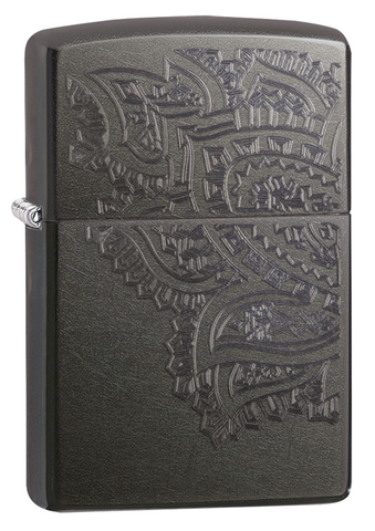 Зажигалка Zippo Classic с покрытием Gray, латунь/сталь, серая, матовая, 36x12x56 мм