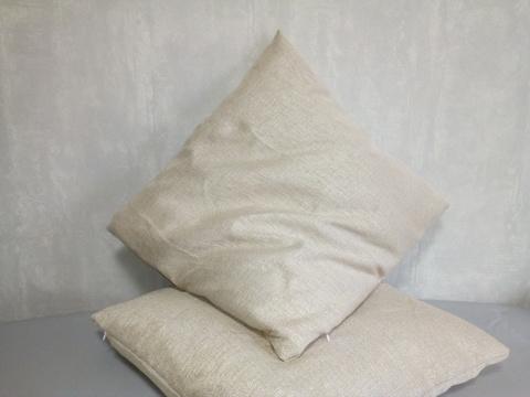 Декоративная наволочка бежевая. 50 х 50 см