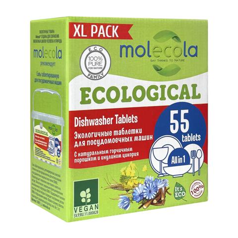 MOLECOLA экологичные таблетки для ПММ, 55 шт.