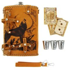 Фляга «Волк», набор 6 предметов, 1,9 л, фото 1