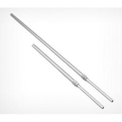 Трубка для ценникодержателей алюминиевая телескопическая диаметр 9 мм длина 600-900 мм (10 штук в упаковке)