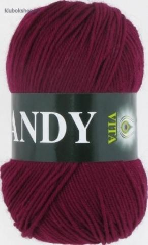 Фото Пряжа Vita: Candy цвет 2508 Бордовый - купить в интернет-магазине
