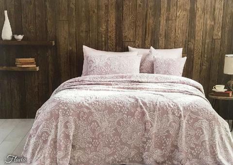 Покрывало махровое пике 2-спальное Tivolyo home FLAVIA 220х240 см грязно-розовое