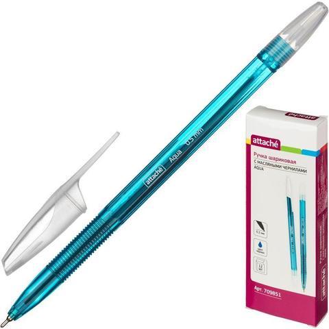 Ручка шариковая Attache Aqua синяя (толщина линии 0.5 мм)
