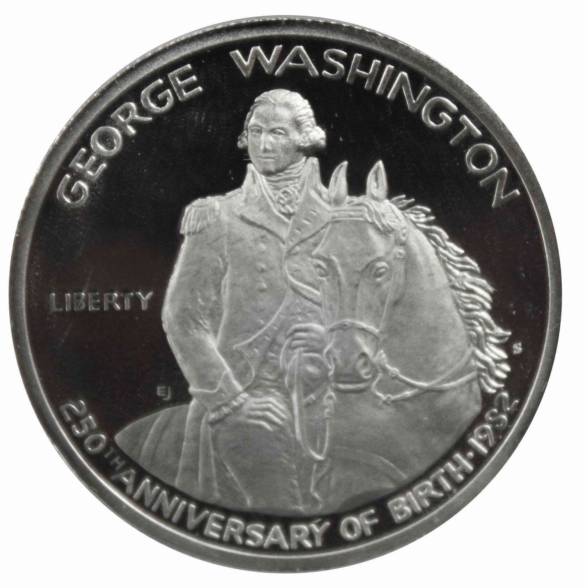 1/2 доллара. 250 лет Вашингтону. (S). США 1982 год. PROOF