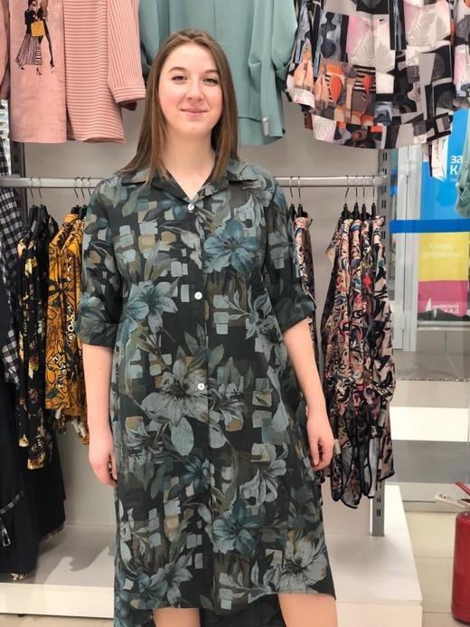 D Платье L&N 1663 рубашка цветы 3/4 (В20)