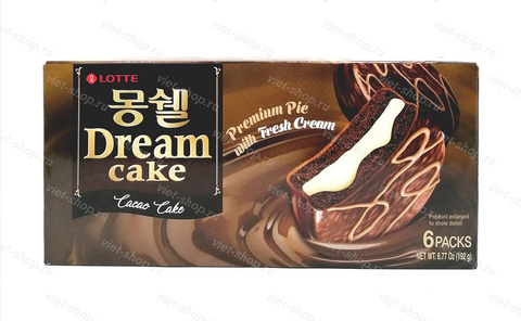 Пирожное LOTTE Dream Cake cacao, 192 гр.