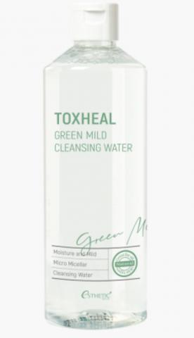 ESTHETIC HOUSE Жидкость для снятия макияжа TOXHEAL Green Mild Cleansing Water, 530 мл