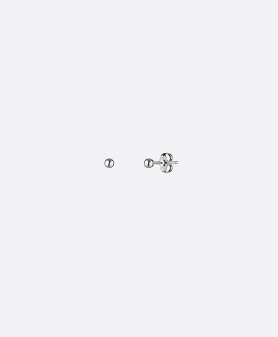 Серьги-гвоздики Ball silver 3 mm