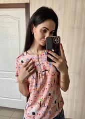 Аста. Повсякденна молодіжна блуза. Рожевий