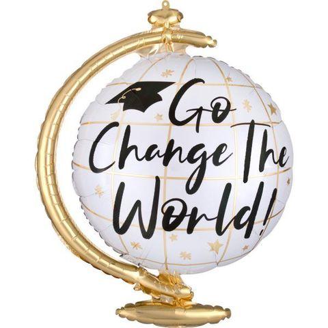 Шар фигура Глобус Go change the world!