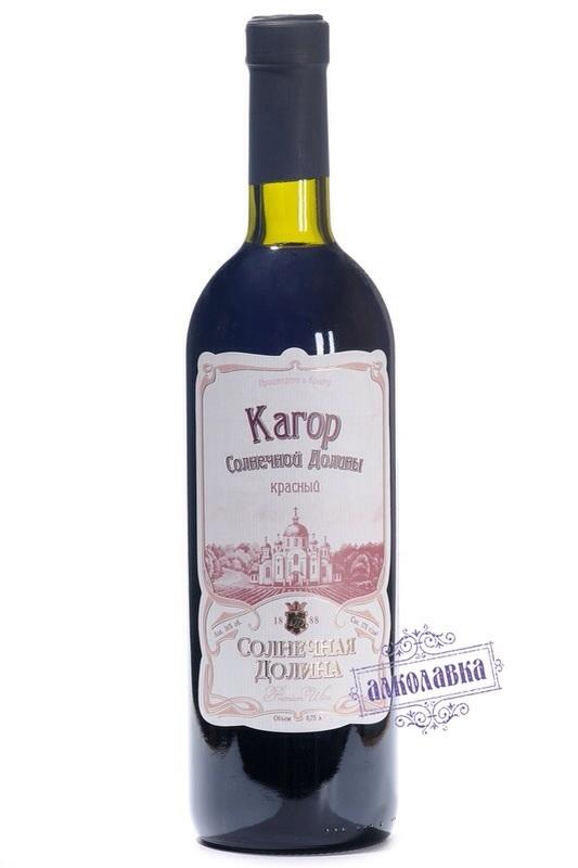 Вино Кагор Солнечной Долины десерное красное 0,75л