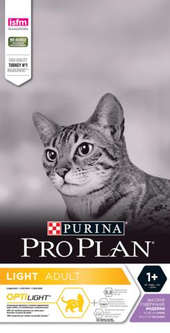 Сухой корм Purina Pro Plan для кошек с избыточным весом, индейка