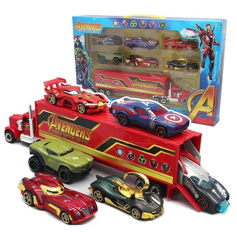 Мстители набор машинок с грузовиком