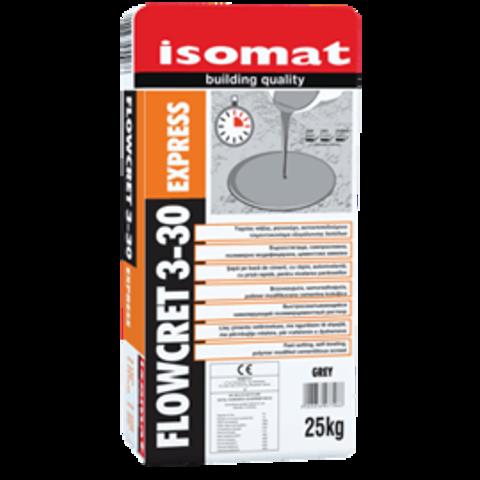 Isomat Flowcret 3-30 Express/Изомат Флоукрет 3-30 Экспресс быстросхватывающийся нивелирующий полимерцементный раствор