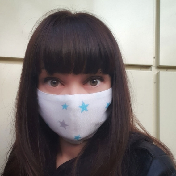 Марлевая маска Adam Stork Blue Stars