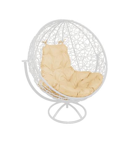 Кресло вращающееся Milagro white/beige